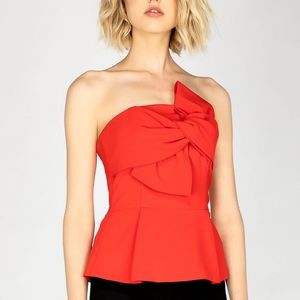 NEW Adelyn Rae Rozina Strapless Bow Top Red sz M